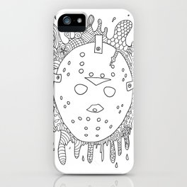 halloween the 13th jason voorhees horror lasoffittadiste iPhone Case