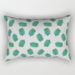 Turquoise leaves nature pattern Rectangular Pillow