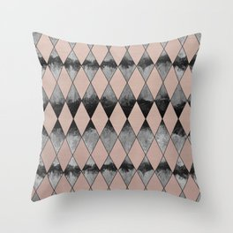 Geometric Diamond Glam #1 #geo #decor #art #society6 Throw Pillow