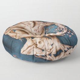 Entangled - Rustic Blue Floor Pillow