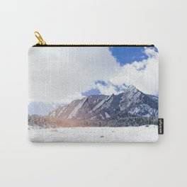 Flatirons in Snow Carry-All Pouch