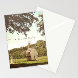 Back in time, milling grains Stationery Cards
