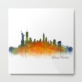New York City Skyline Hq V02 Metal Print