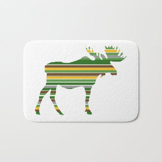 Moose - Forest Colors Bath Mat