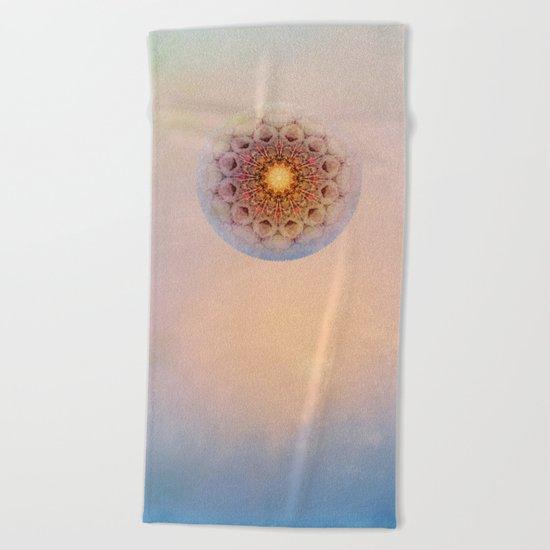 Asterisk Mandala Beach Towel