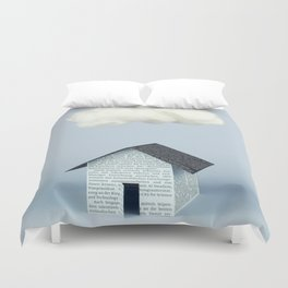 A cloud over the house Duvet Cover