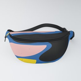 Shapes of Love Abstract Art Blue Minimalism Fanny Pack
