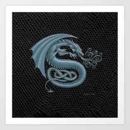 "Dragon Letter S, from ""Dracoserific"", a font full of Dragons Art Print"