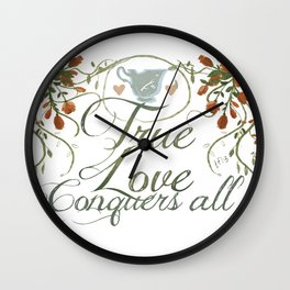 Rumbelle- True love conquers all Wall Clock
