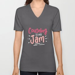 Counseling Is My Jam For School Counselor Unisex V-Neck