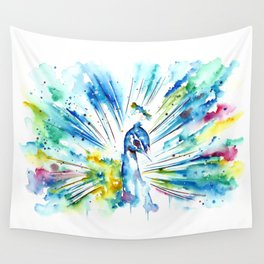 Tranquil Peacock Wall Tapestry