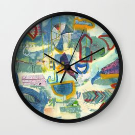 This Side Up Wall Clock