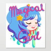 magical girl Canvas Prints featuring Magical Girl by Ferret Party