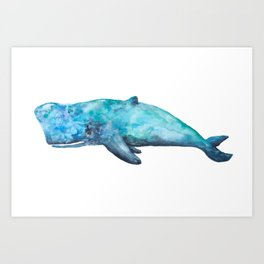 Atlas The Whale Art Print