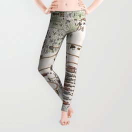 Aztec Collection: Migration from Aztlan to Chapultapec Leggings