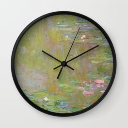Water Lily Pond by Claude Monet Wall Clock