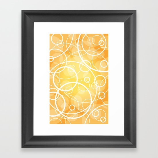 Hard Line Bokeh Framed Art Print