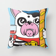 The Frenchie Connection Throw Pillow