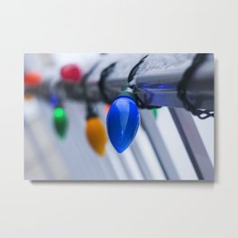 Christmas Lights Photography Print Metal Print