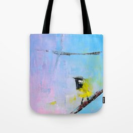 White Eared Honey Eater Tote Bag