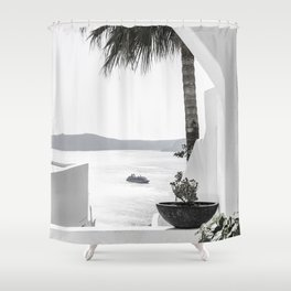 santorini 3 Shower Curtain