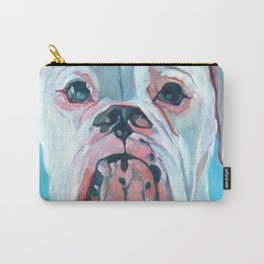 Otis the White Boxer Carry-All Pouch