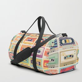 Retro Cassette Tapes Collection Duffle Bag