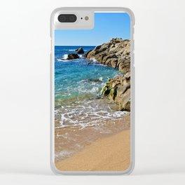 Seascape Costa Brava Clear iPhone Case