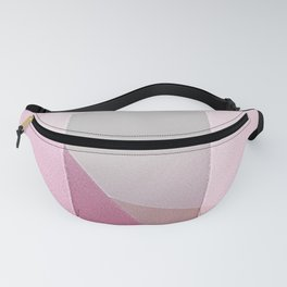 Coming Home - Abstract Geometric Painting Blush Pink Fanny Pack