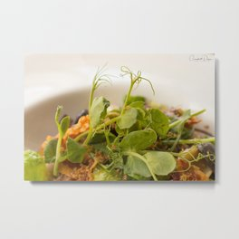 The Art of Food Curly Greens Metal Print