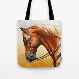 Western Sorrel Quarter Horse Tote Bag