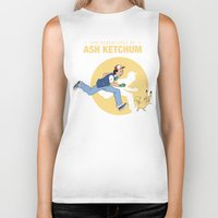 tintin Biker Tanks featuring THE ADVENTURES OF ASH KETCHUM by Akiwa