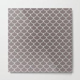 Warm Gray Scales Metal Print