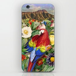Red Parrot iPhone Skin