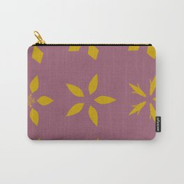 The mustard yellow portuguese tiles style motive on the vine red background Carry-All Pouch