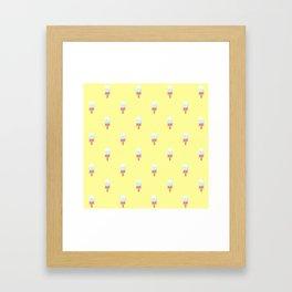 Kawaii melting popsicle pattern Framed Art Print