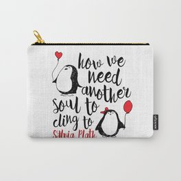 Penguin Love Quote Carry-All Pouch