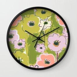My Garden in Spring Wall Clock