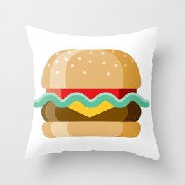 Delicious Cheeseburger Throw Pillow