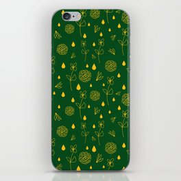 Flowers and Raindrops iPhone Skin