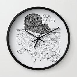 Sea Otter Sketch Wall Clock