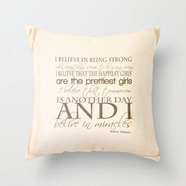 I believe in Miracles  Throw Pillow