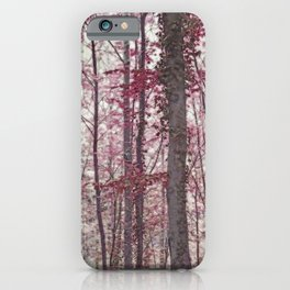 Ethereal Austrian Forest in Burgundy iPhone Case