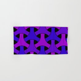 Geometric Design 2 (Purple) Hand & Bath Towel