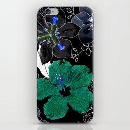 Botanical Bliss Black iPhone Skin