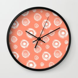 Grunge swirls Wall Clock