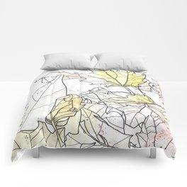 Autumn Leaves Watercolor Comforters