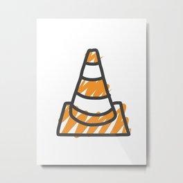 VLC Cone Metal Print