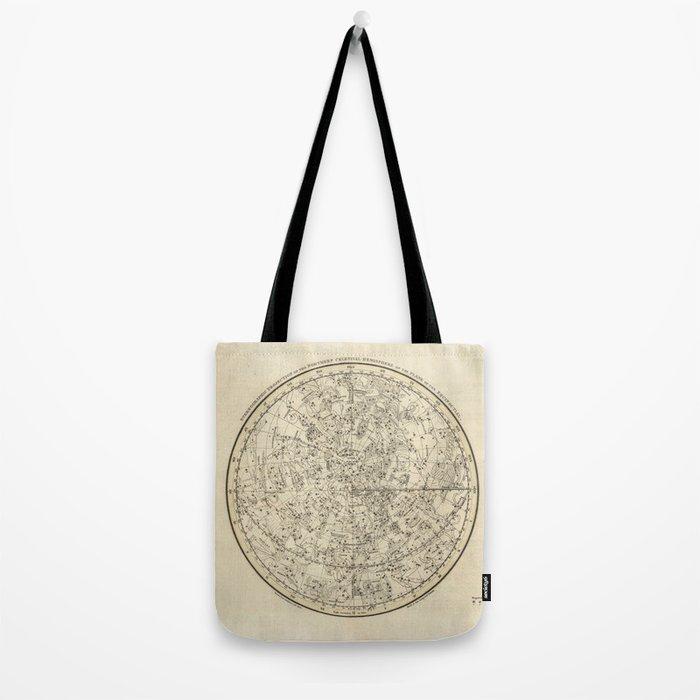 Vintage Celestial Map Tote Bag