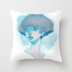 visage - blue Throw Pillow